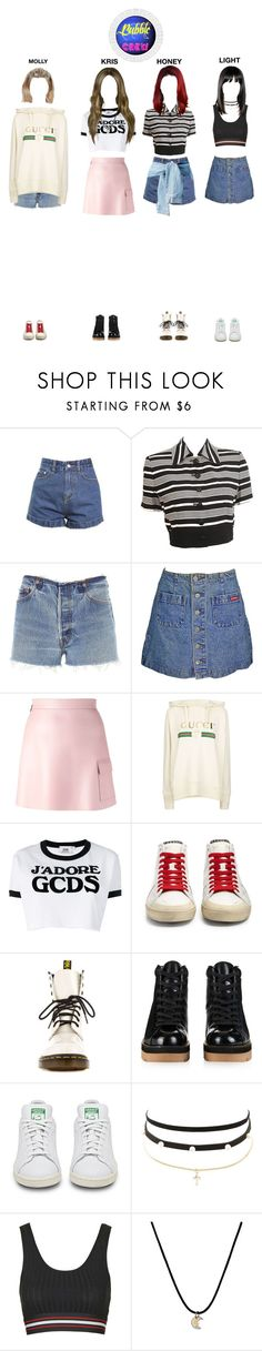 """Audition for AA"" by bubblecrew ❤ liked on Polyvore featuring Christian Dior, RE/DONE, MSGM, Gucci, GCDS, Yves Saint Laurent, Dr. Martens, Alexander Wang, adidas and Charlotte Russe"