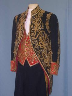 Diplomatic uniform with embroidery. Military Fashion, Mens Fashion, Fashion Outfits, Gents Kurta, Military Looks, Court Dresses, Military Style Jackets, Uniform Design, Historical Costume