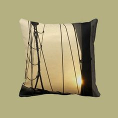 Sunset Cruise Throw Pillows