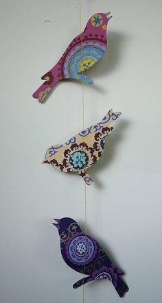 Handmade Paper Birds Garland Bunting
