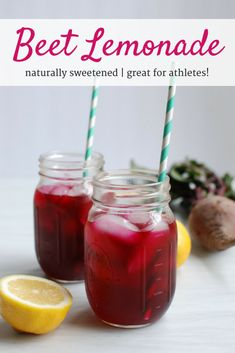 This beet lemonade is sure to be your favorite drink to sip on all summer! It's sweet, earthy, refreshing - and all naturally sweetened! This beet lemonade is sure to be your favorite drink to sip on all summer! It's sweet, earthy, and refreshing. Beet Recipes, Best Smoothie Recipes, Healthy Smoothies, Healthy Drinks, Healthy Recipes, Martini Recipes, Drink Recipes, Smoothie Drinks, Healthy Treats