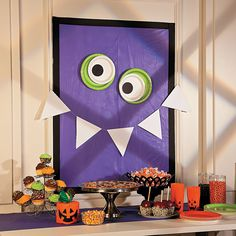 Monster Banner Backdrop - Thinking of doing something like this for the doors for his party!