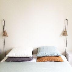 Des taies d'oreiller colorées