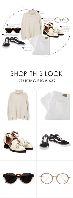 """""""TWO WAYS - ONE OUTFIT pt. 6"""" by evgenia-trofimova ❤ liked on Polyvore featuring MANGO, Paige Denim, Vans, RetroSuperFuture and Frency & Mercury"""