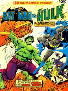 comicbookcovers: Batman Vs The Incredible Hulk, Fall 1981, cover by Jose Luis Garcia-Lopez