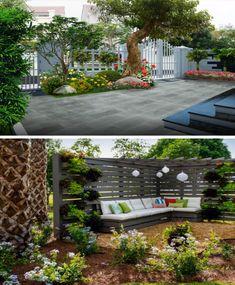 Flower Garden Design, Beautiful Flowers Garden, Built Environment, Home Decor Store, Bathroom Interior, Home Interior Design, Living Room Designs, Grass, New Homes