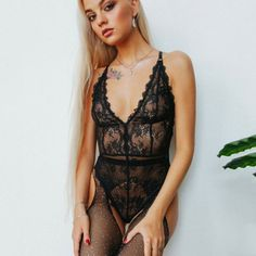 3f13856f560 Women Lace Sissy Sexy Passion Lingerie Deep V Halter Babydoll G-string Dress  UK Sexy Passion Lingerie