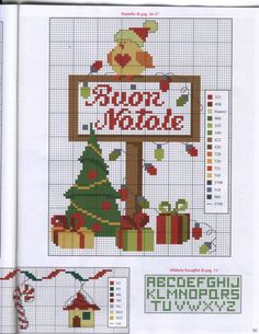 Gallery.ru / Фото #18 - 9.2011 - patrizia61 Xmas Cross Stitch, Cross Stitch Charts, Cross Stitch Embroidery, Cross Stitch Patterns, Christmas Cross, Merry Christmas, Christmas Ornaments, Holidays And Events, Holiday Decor