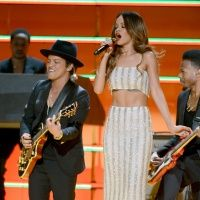 Bruno Mars and Rihanna perform on the 55th Annual GRAMMY Awards