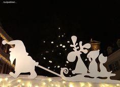 silhouettes - Décor stand Marché de Noël vétérinaire www.toutpetitrien.ch - fleurysylvie