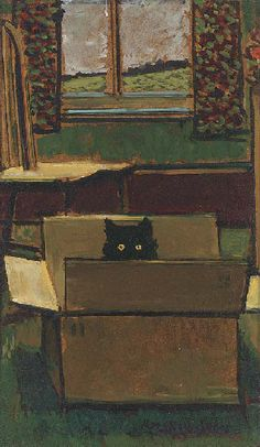 Cat in a cardboard box Ruskin Spear (1911-1999)