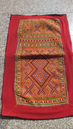 Vintage Hmong Fabric handmade tapestry textiles hill by dellshop, $14.99