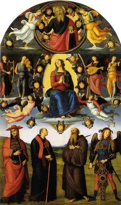 IL PERUGINO - Pala di Vallombrosa (Assunzione della Vergine e quattro santi) - 1500 - Galleria dell'Accademia, Firenze