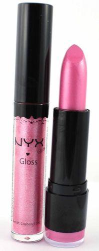 NYX Lipstick & Lipgloss Round 604 JUPITER & 5 SPARKLE Lipght Pink Shimmer Makeup