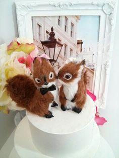 WEDDING 2016 ooak romantic squirrel wedding by MissRoseDanae Wedding Cake Toppers, Wedding Cakes, Fall Wedding Desserts, Spring Sale, Woodland Wedding, Little Birds, Wedding Wishes, Wedding Tips, Squirrel