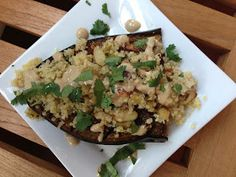 The Fire House Chef: Roasted Eggplant with Quinoa & Yogurt
