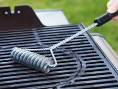This bristle free bbq brush, discovered by The Grommet, is a safer way to cleaning your grill. No need to worry about metal bristles getting in your food.