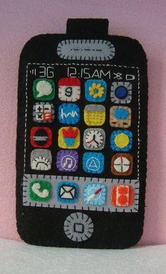 Cute hand-stitched felt iPhone case.