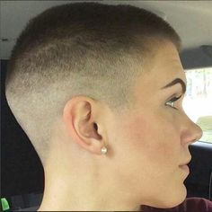 She fell for the cute guy at the salon and let him give her a buzzcut.....although she knows it looks hot, she's still having a difficult time adjusting after having long lovely silken locks for so long:)