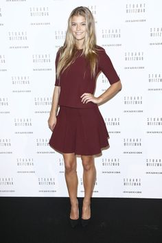 Pin for Later: The Stars Are Flocking to the Front Rows For the Last Day of PFW Nina Agdal Nina Agdal at the Stuart Weitzman cocktail party.
