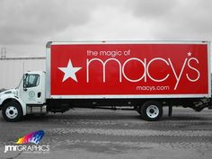 macy's truck | This Macy's truck is sure to grab your attention