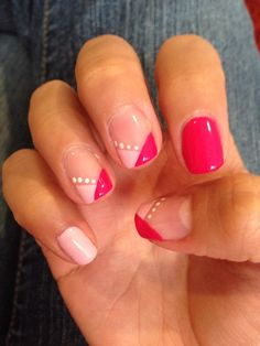 Pink french with dots #nails