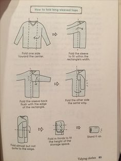 KonMari How to Fold Long-sleeved tops