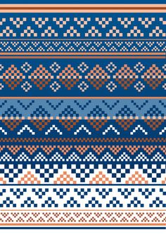Pattern Art Print by Luke Thomas - X-Small, Diy Abschnitt, Fair Isle Knitting Patterns, Knitting Charts, Loom Patterns, Knitting Stitches, Fabric Patterns, Beading Patterns, Stitch Patterns, Crochet Patterns, Motif Fair Isle