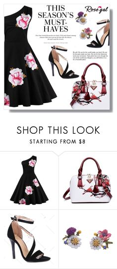 """""""floral print dress"""" by fashion-pol ❤ liked on Polyvore featuring H&M and vintage"""