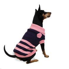 Suloinen Basic Level -neule on mukava ja helppo pukea, joten se sopii hyvin vaatteisiin tottumattomalle koiralle. / Cute Basic Level sweater is comfortable and easy to put on, so even dogs who are not used to clothes like to wear it.
