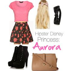 Red dress disney princess hipster