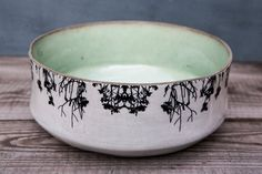 Ceramic Bowl Modern serving bowl Home Decor Fruit by FreeFolding