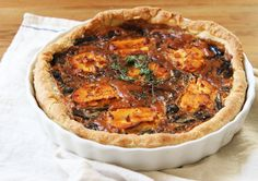 mushroom and onion tart with fig goat cheese by reading my tea leaves, via Flickr