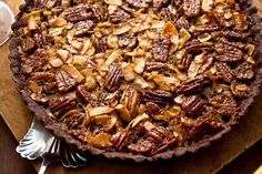 Chocolate Coconut Pecan Tart Recipe - NYT Cooking