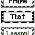"Frame the lesson is adapted from the book, The Fundamental 5. Before each new lesson, students get ready to  ""FRAME THAT LESSON!"" *The frames are p..."