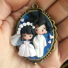 I want a replica of Raul & I when we get marroed! Polymer Clay Dolls, Polymer Clay Miniatures, Polymer Clay Projects, Polymer Clay Creations, Polymer Clay Jewelry, Polymer Project, Chi Chi, Clay Mugs, Cute Clay