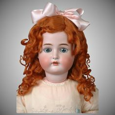 "*Gingersnaps* Kammer & Reinhardt / Simon & Halbig 29"" Antique Doll with Blue Eyes"