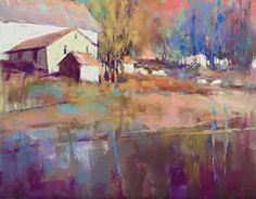 AfternoonOnTheHill by Lyn Asselta Pastel ~ 16 x 20