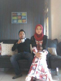 With my husband My hijab