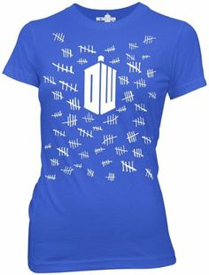 Amazon.com: Dr. Who - Womens Tally Marks T-Shirt in Royal Blue: Clothing