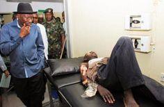 #Nyana bombing: Pres. Jonathan visit victims at Asokoro Hospital [Photos]