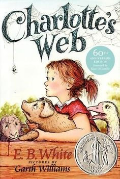 """This beloved book by E. B. White is a classic of children's literature that is """"just about perfect."""" Some Pig. Humble. Radiant. These are the words in Charlotte's Web, high up in Zuckerman's barn. Charlotte's spiderweb tells of her feelings for a little pig named Wilbur. They also express the love of a girl named Fern, who saved Wilbur's life when he was born the runt of his litter. White's Newbery Honor Book is a tender novel of friendship, love, life, and death."""