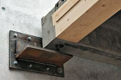 Hermann Kaufman - LCT One office building, Dornbirn Wood Steel, Wood And Metal, Steel Detail, Timber Structure, Post And Beam, Wood Construction, Wood Design, Joinery, Steel Frame