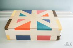 painted box craft idea at diyshowoff.com. for essential oils storage.