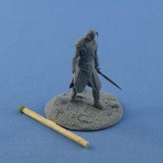 Skyrim 28mm Dovakin Dragonborn resin kit by StudioXIIIModels, $18.00