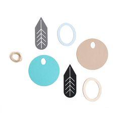 Image of SNUG.NEST Set of 6 cardboard pendants
