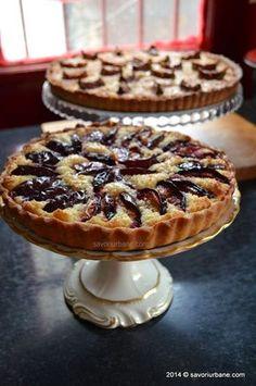 Tarta cu prune si crema frangipane (15) Cookie Recipes, Dessert Recipes, Romanian Desserts, Kolaci I Torte, Homemade Sweets, Vegan Kitchen, Vegan Desserts, Eat Cake, Sweet Recipes