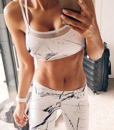 top sports bra leggings sportswear workout marble workout leggings sports shoes pants #WorkoutOutfits