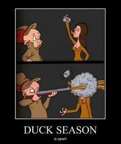 funny demotivational posters, duck season