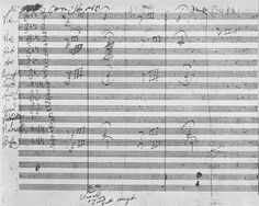 First page of Beethovens fifth symphony, containing what may be the most iconic motif in the history of music - click to enlarge